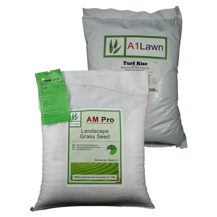 AM Pro Landscape Grass Seed with Weed, Feed & Moss Killer