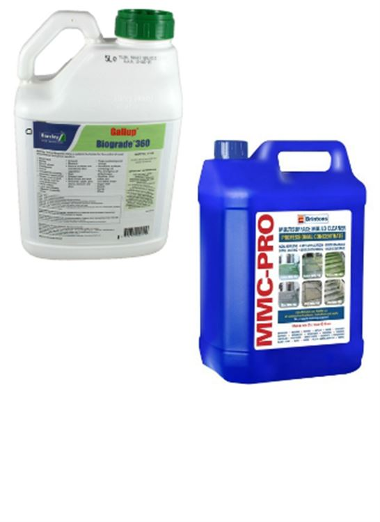 Gallup Biograde 360 Weed Killer & MMC-Pro Hard Surface Cleaner
